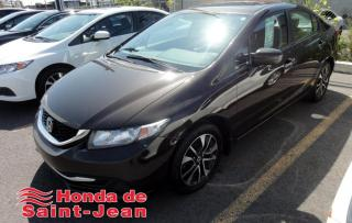 Used 2014 Honda Civic EX 4 portes CVT Toit Camera Mags Bluetoo for sale in St-Jean-Sur-Richelieu, QC