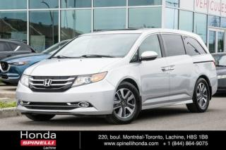 Used 2014 Honda Odyssey Touring NAVI DVD CUIR 8 PASS BAS KM NAVI CUIR TOIT 8 PASS for sale in Lachine, QC