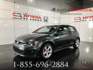 Used 2016 Volkswagen Golf GTI Voiture à hayon, 3 portes, boîte manuell for sale in St-Basile-le-Grand, QC