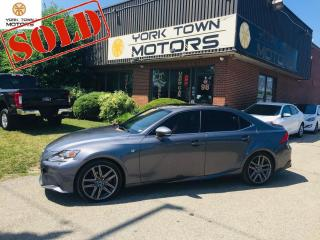 Used 2015 Lexus IS 250 F-Sport3/Red-Int/AWD/Nav/SunRf/OneOwner/NoAcc for sale in North York, ON