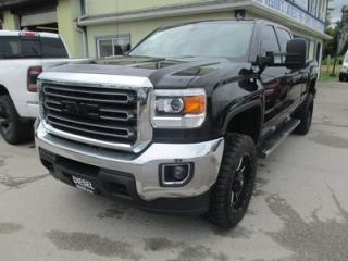 Used 2015 GMC Sierra 2500 HD 3/4 TON SLE MODEL 5 PASSENGER 6.6L - DURAMAX.. 4X4.. CREW.. SHORTY.. TRAILER BRAKE.. HEATED SEATS.. BACK-UP CAMERA.. BLUETOOTH.. for sale in Bradford, ON