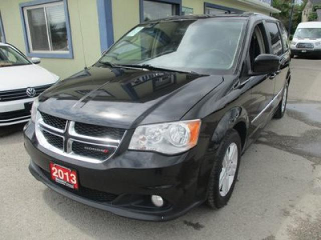 2013 Dodge Grand Caravan LOADED CREW MODEL 7 PASSENGER 3.6L - V6.. CAPTAINS.. STOW-N-GO.. ECON-MODE.. LEATHER.. HEATED SEATS.. BACK-UP CAMERA.. DVD PLAYER..