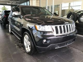 Used 2013 Jeep Grand Cherokee OVERLAND 4WD, ACCIDENT FREE, POWER HEATED/VENTED LEATHER SEATS, SUNROOF for sale in Edmonton, AB
