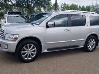 Used 2010 Infiniti QX56 QX56; LOADED, 7 PASS, NAV, BACKUP CAM, LEATHER, SUNROOF AND MORE for sale in Edmonton, AB