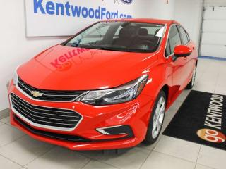 Used 2018 Chevrolet Cruze PREM FWD with power heated seats, heated steering wheel, push start/stop, and back up cam for sale in Edmonton, AB