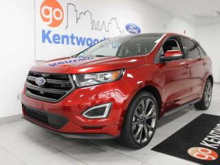 Used 2017 Ford Edge SPORT AWD Ecoboost with keyless entry, power heated seats, sunroof, push start/stop, back up cam, and NAV for sale in Edmonton, AB