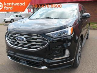Used 2019 Ford Edge TITAN 301A AWD 2.0L I4 Ecoboost, Power Heated Leather Seats, Auto Start/Stop, Lane Keeping System, Pre-Collision Assist, Remote Vehicle Start, Reverse Camera and Sensing System for sale in Edmonton, AB