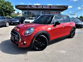 Used 2015 MINI Cooper S|4DOOR|PANOROOF|LEATHER|REDONBLK for sale in Mississauga, ON