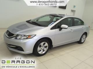 Used 2015 Honda Civic LX+LECTEUR CD+AIR CLIMATISE+CAMERA DE RECUL LX+LECTEUR CD+AIR CLIMATISE+CAMERA DE RECUL for sale in Cowansville, QC