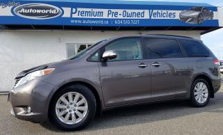 Used 2013 Toyota Sienna *Limited, Low KM, Local Vehicle* for sale in Langley, BC