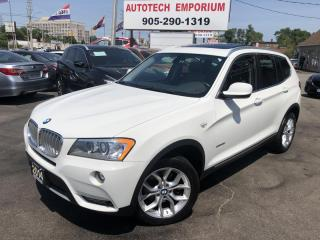Used 2014 BMW X3 xDrive28i AWD Camera/Parking Sensors/Pano Sunroof&GPS* for sale in Mississauga, ON
