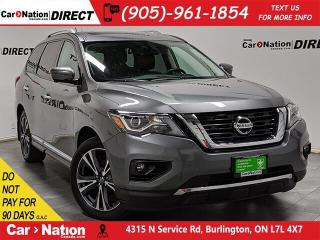 Used 2017 Nissan Pathfinder Platinum| 4X4| NAVI| SUNROOF| DVD| for sale in Burlington, ON