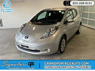 Used 2016 Nissan Leaf **RABAIS DE 4000.00 DU GOUV. INCLUS** for sale in Rivière-Du-Loup, QC