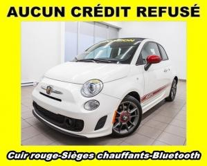 Used 2013 Fiat 500 C ABARTH BLUETOOTH SIÈGES CHAUFF CUIR ROUGE *BAS KM* for sale in St-Jérôme, QC