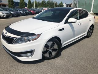 Used 2013 Kia Optima Premium HYBRIDE **CUIR/TOIT PANO/GPS** 72 022 KM* for sale in St-Eustache, QC