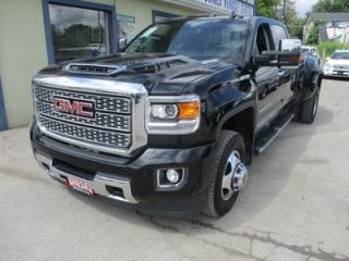 Used 2018 GMC Sierra 3500 1-TON DENALI EDITION 5 PASSENGER 6.6L - DURAMAX.. 4X4.. CREW.. 8-FOOT DUALLY.. NAVIGATION.. BACK-UP CAMERA.. SUNROOF.. LEATHER.. for sale in Bradford, ON