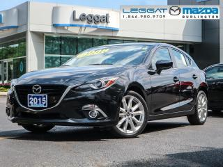 Used 2015 Mazda MAZDA3 GT- LEATHER, MOONROOF, BOSE, BLUETOOTH, REAR CAMERA for sale in Burlington, ON