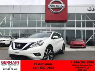 Used 2016 Nissan Murano PLATINUM ***TAUX À PARTI DE 0.99%*** for sale in Donnacona, QC