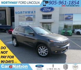 Used 2015 Jeep Cherokee Limited | HTD LEATHER | BACKUP CAM | PWR LIFTGATE for sale in Brantford, ON