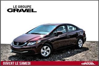 Used 2015 Honda Civic LX - Air clim - Caméra - Groupe électrique - for sale in Ile-des-Soeurs, QC