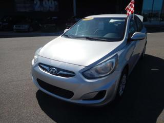 Used 2013 Hyundai Accent L,RADIO AM/FM,PRISE AUX,PRISE 12 VOLT for sale in Mirabel, QC