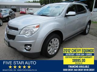 Used 2012 Chevrolet Equinox LT - Certified w/ 6 Month Warranty for sale in Brantford, ON