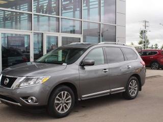 Used 2015 Nissan Pathfinder SL AWD / HEATED SEATS / HEATED WHEEL / PANO ROOF / POWER LIFT GATE for sale in Edmonton, AB