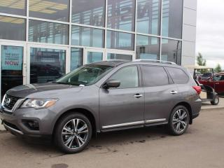 Used 2019 Nissan Pathfinder Platinum AWD / BIRDS EYE CAM / HEATED/COOLED SEATS / HEATED 2ND ROW / POWER LIFT GATE for sale in Edmonton, AB