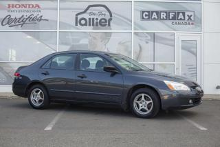 Used 2004 Honda Accord DX ***RAPPORT CARPROOF DISPONIBLE*** for sale in Québec, QC