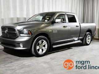 Used 2013 RAM 1500 SPORT CREW CAB 4X4 | MOONROOF | LEATHER | NAVIGATION | BACKUP CAMERA | HEATED + COOLED SEATS | HEATED STEERING WHEEL | TRAILER TOW for sale in Red Deer, AB