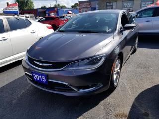 Used 2015 Chrysler 200 C  AUTO LOADED ACCIDENT FREE CLEAN CAR FAX for sale in Brampton, ON