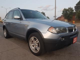 Used 2005 BMW X3 3.0i- EXTRA CLEAN-PANORAMA SUNROOF-LEATHER-ALLOYS for sale in Scarborough, ON