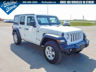 Used 2019 Jeep Wrangler Unlimited Sport S 4x4 | Nav | Bluetooth for sale in Indian Head, SK