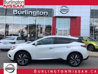 Used 2017 Nissan Murano Platinum, ACCIDENT FREE, 1 OWNER ! for sale in Burlington, ON