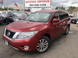 Used 2015 Nissan Pathfinder SV 4WD 7-Passengers /Htd Seats/Camera/Bluetooth&ABS* for sale in Mississauga, ON