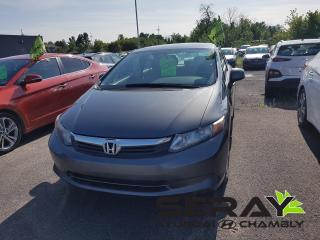 Used 2012 Honda Civic LX, A/C, BLUETOOTH, CRUISE for sale in Chambly, QC