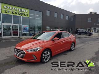 Used 2017 Hyundai Elantra mags, cuir, Dual a/c, toit, nav, en préparation for sale in Chambly, QC