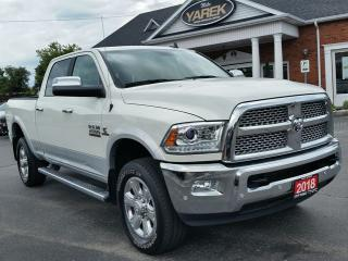 Used 2018 RAM 2500 Laramie 4x4 DIESEL, NAV, Leather Heated/Vented Seats, Sunroof, Remote Start, Spray In Bedliner, Apple Carplay for sale in Paris, ON