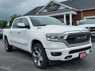 Used 2019 RAM 1500 Limited 4x4, e-Torque, RAMBOX, Luxury Interior, Heated/Vented Seats, NAV, Pano Roof, Air Suspension, Back Up Cam/Sensors for sale in Paris, ON