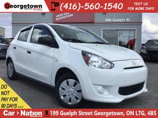 Used 2015 Mitsubishi Mirage ES | 5 SPEED | AUX IN | 1.2L | CD  | LOW KM | for sale in Georgetown, ON