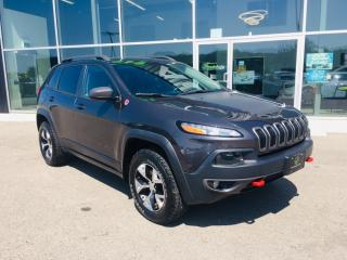 Used 2017 Jeep Cherokee Trailhawk, Trailer Hitch, Navigation for sale in Ingersoll, ON