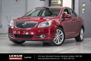 Used 2014 Buick Verano 2.0L TURBO; CUIR GPS ANGLES MORTS AUDIO BOSE 2.0L TURBO À 250 CHEVAUX - NAVIGATION - DÉMARREUR - ANGLES MORTS - PRÉ-COLLISION - SIÈGES CHAUFFANTS for sale in Lachine, QC