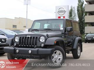 Used 2017 Jeep Wrangler SPORT l 4x4 l Hardtop for sale in Edmonton, AB