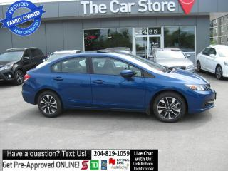 Used 2015 Honda Civic Sedan EX backcam SUNROOF htd seat 1OWNER NO CLAIMS!! for sale in Winnipeg, MB