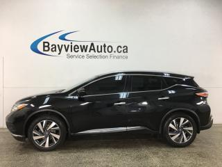Used 2016 Nissan Murano Platinum - BLACK! AWD! PANOROOF! LEATHER! NAV! + MORE! for sale in Belleville, ON