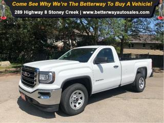 Used 2018 GMC Sierra 1500 RWD| Backup Cam| Bed Liner| Regular Cab for sale in Stoney Creek, ON