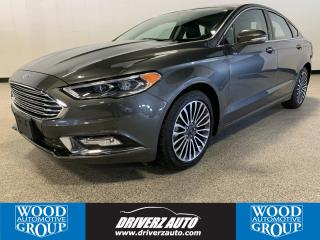 Used 2017 Ford Fusion CLEAN CARFAX, AWD, HEATED LEATHER SEATING, POWER MOONROOF, NAVIGATION. for sale in Calgary, AB