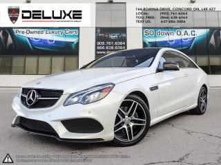 Used 2016 Mercedes-Benz E-Class 2016 MERCEDES BENZ E400 3.0L DOHC V6 Biturbo AMG pkg 4Matid AWD NAVIGATION $0 DOWN OAC for sale in Concord, ON