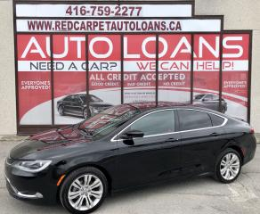 Used 2015 Chrysler 200 Limited LIMITED-0% DOWN ALL CREDIT ACCEPTED for sale in Scarborough, ON