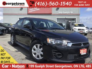 Used 2017 Mitsubishi Lancer ES | BU CAM | HEATED SEATS|CLEAN CARFAX|BLUTOOTH for sale in Georgetown, ON